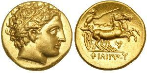 1 Stater Macedonian Kingdom (800BC-146BC) Gold Philip II of Macedon (382 BC - 336 BC)