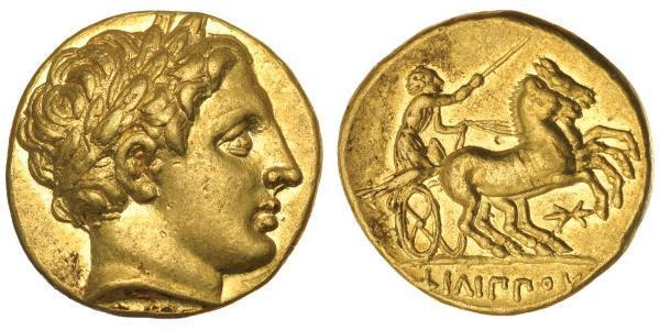 1 Stater Macedonian Kingdom (800BC-146BC) Gold Philip II of Macedon (382 BC - 336 BC)