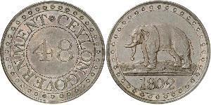 1 Stiver Sri Lanka/Ceylon / 大不列顛王國 (1707 - 1800) / 大不列颠及爱尔兰联合王国 (1801 - 1922) 銅