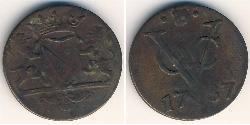 1 Stiver Dutch Republic (1581 - 1795) Copper