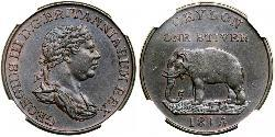1 Stiver Sri Lanka/Ceylon / United Kingdom of Great Britain and Ireland (1801-1922) Copper George III (1738-1820)