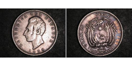 1 Sucre Ecuador 銀
