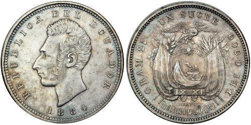 1 Sucre Équateur (pays) Argent Antonio José de Sucre (1795 - 1830)