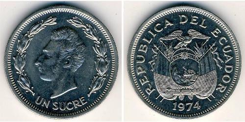 1 Sucre Ecuador Copper/Nickel