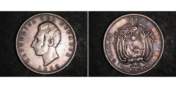 1 Sucre Ecuador Silver