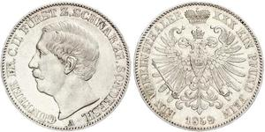 1 Taler Schwarzburg-Sondershausen (1599-1920) Срібло