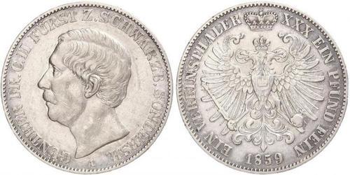 1 Taler 施瓦茨堡-松德爾斯豪森 (1599 - 1920) 銀