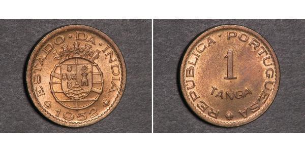 1 Tanga Индия португальская (1510-1961) Бронза
