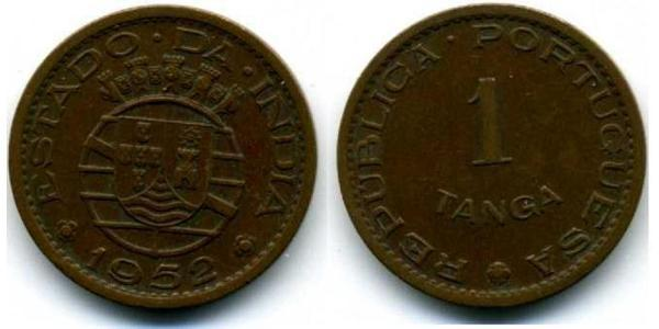 1 Tanga Португальская Индия (1510-1961) Бронза