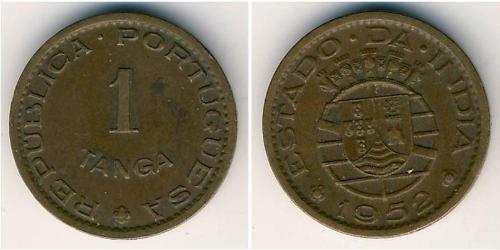 1 Tanga India portuguesa (1510-1961) Bronce