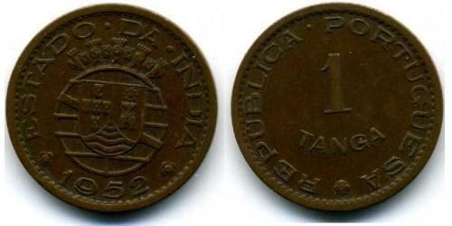 1 Tanga Portuguese India (1510-1961) Bronze