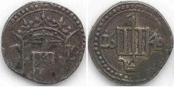 1 Tanga Sri Lanka / Kingdom of Portugal (1139-1910) Silber