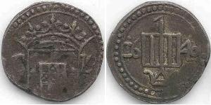 1 Tanga Sri Lanka/Ceylon / Kingdom of Portugal (1139-1910) Silver