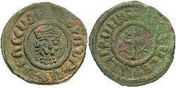 1 Tank Armenisches Königreich von Kilikien (1080-1375) Bronze Leo II. (Armenien) (1150-1219)