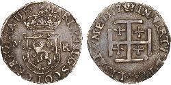 1 Testoon Reino de Escocia (843-1707) Plata Mary I of Scots (1542-1587)