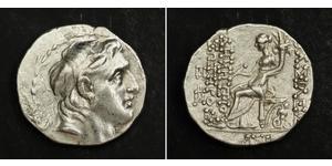 1 Tetradrachm 塞琉古帝国 (312 BC - 63 BC) 銀 Demetrius I Soter (185BC - 150BC)