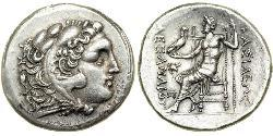 1 Tetradrachm 馬其頓王國 (808 BC - 168 BC) 銀 亚历山大大帝 (356BC-323BC)