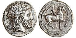 1 Tetradrachm Ancient Greece (1100BC-330) 銀 Philip II of Macedon (382 BC - 336 BC)