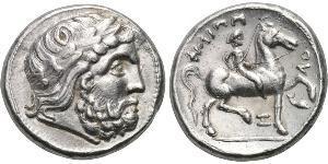 1 Tetradrachm Ancient Greece (1100BC-330) 銀 Philip II of Macedon (382 BC - 336 BC)