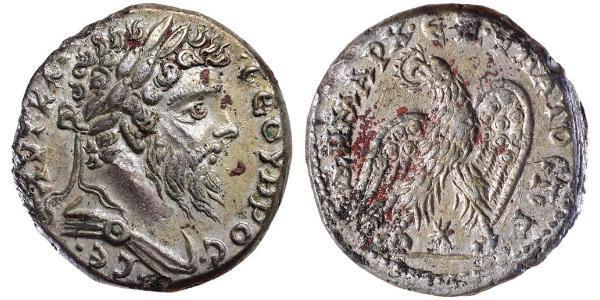 1 Tetradrachm Empire romain (27BC-395) Argent Septime Sévère (145- 211)