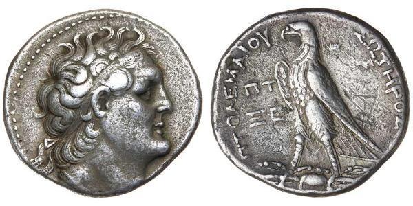 1 Tetradrachm Ptolemaic Kingdom (332BC-30BC) Argent Ptolémée II Philadelphe  (309BC-246BC)
