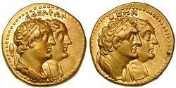 1 Tetradrachm Ptolemaic Kingdom (332BC-30BC) Gold Ptolemaios II. Philadelphos (309BC-246BC)