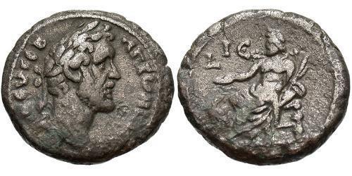 1 Tetradrachm Römische Kaiserzeit (27BC-395) Silber Antoninus Pius  (86-161)