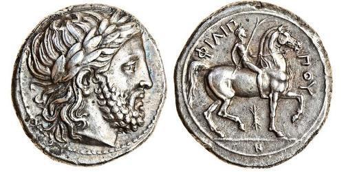 1 Tetradrachm Ancient Greece (1100BC-330) Silver Philip II of Macedon (382 BC - 336 BC)
