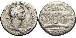 1 Tetradrachm Roman Empire (27BC-395) Silver Domitian  (51-96)
