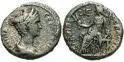 1 Tetradrachm Roman Empire (27BC-395) Silver Vibia Sabina (83-137)