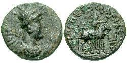 1 Tetradracma Imperio kushán (60-375) Bronce Vima Takto