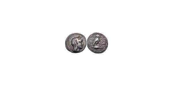 1 Tetradracma Antigua Grecia (1100BC-330) Plata