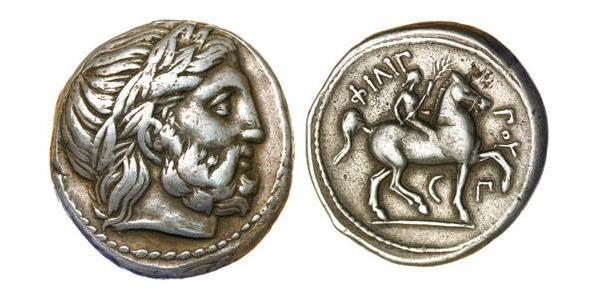 1 Tetradracma Antigua Grecia (1100BC-330) Plata Philip II of Macedon (382 BC - 336 BC)