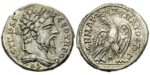 1 Tetradracma Imperio romano (27BC-395) Plata Septimio Severo (145- 211)