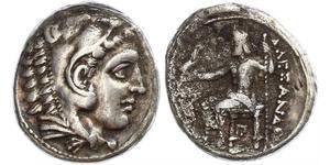 1 Tetradracma Reino de Macedonia (800BC-146BC) Plata Alejandro III de Macedonia (356BC-323BC)