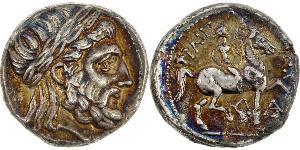 1 Tetradramma Grecia antica (1100BC-330) Argento Philip II of Macedon (382 BC - 336 BC)