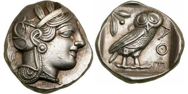 1 Tetradramma Grecia antica (1100BC-330) Argento