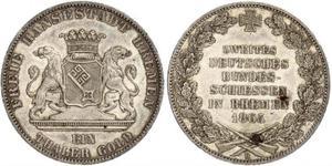 1 Thaler 不來梅州 / 联邦州 (德国) 銀