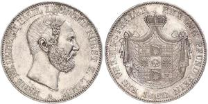 1 Thaler 利珀親王國 (1123 - 1918) 銀 Leopold III, Prince of Lippe