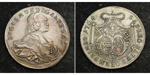 1 Thaler 哈布斯堡君主國 銀 Sigismund von Schrattenbach
