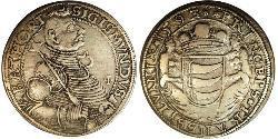1 Thaler 外西凡尼亞公國 (鄂圖曼帝國) (1570 - 1711) 銀 Sigismund Báthory,  prince of Transylvania (1572 -1613)