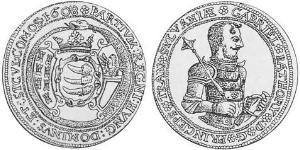 1 Thaler 外西凡尼亞公國 (鄂圖曼帝國) (1570 - 1711) 銀 Gabriel Báthory (1589 – 1613)