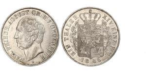 1 Thaler 奥尔登堡大公国 (1814 - 1918) 銀 奥古斯特 (奥尔登堡)