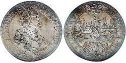 1 Thaler 奥格斯堡 (1276 - 1803 Augsburg) 銀 斐迪南三世 (神圣罗马帝国) (1608-1657)