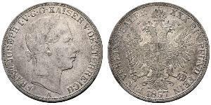 1 Thaler 奧地利帝國 (1804 - 1867) 銀 弗朗茨·约瑟夫一世 (1830 - 1916)
