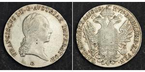 1 Thaler 奧地利帝國 (1804 - 1867) 銀 弗朗茨二世 (神圣罗马帝国) (1768 - 1835)
