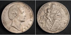1 Thaler 巴伐利亞王國 (1806 - 1918) 銀 路德维希二世 (巴伐利亚)