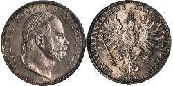 1 Thaler 普魯士王國 (1701 - 1918) 銀 威廉一世 (德国)
