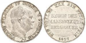 1 Thaler 普魯士王國 (1701 - 1918) 銀 腓特烈·威廉四世 (1795 - 1861)