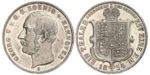 1 Thaler 汉诺威王国 (1814 - 1866) 銀 格奥尔格五世 (汉诺威) (1819 - 1878)